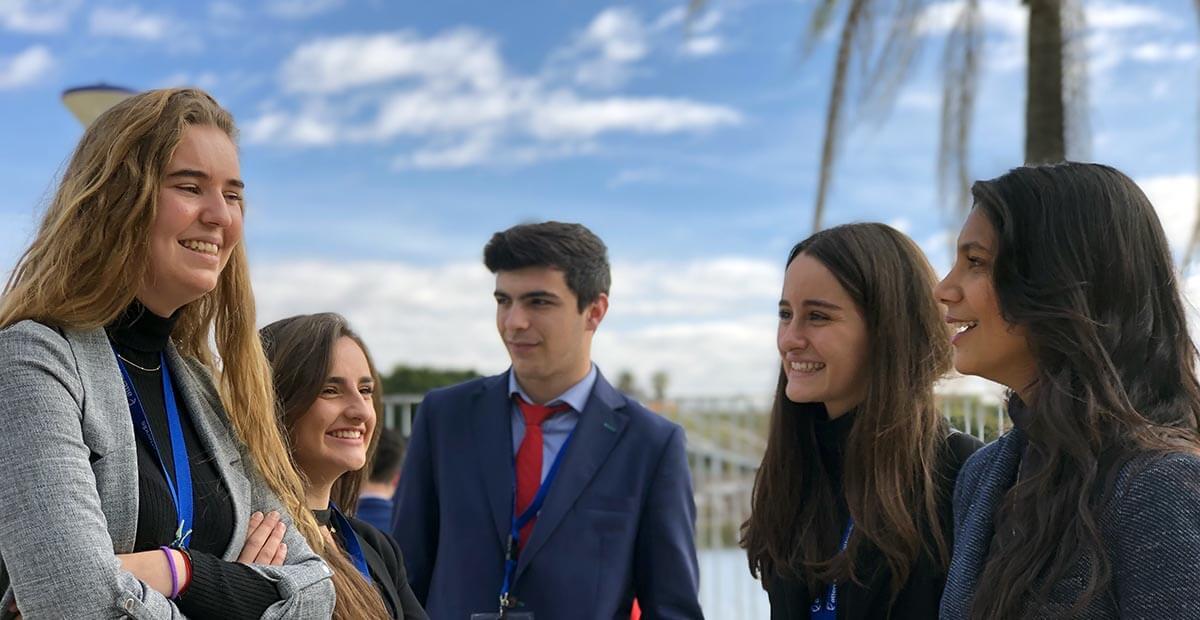 Alumnos de Bachillerato durante el Attendis University Summit