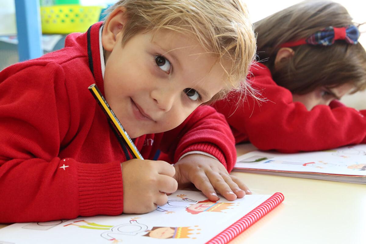 Un alumno de Educación Infantil de Attendis