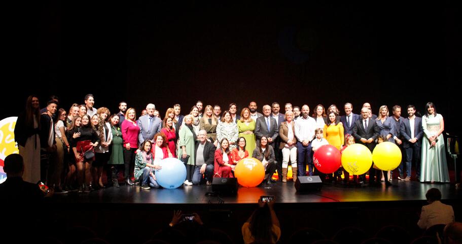 Foto de familia en el festival Soles de Málaga
