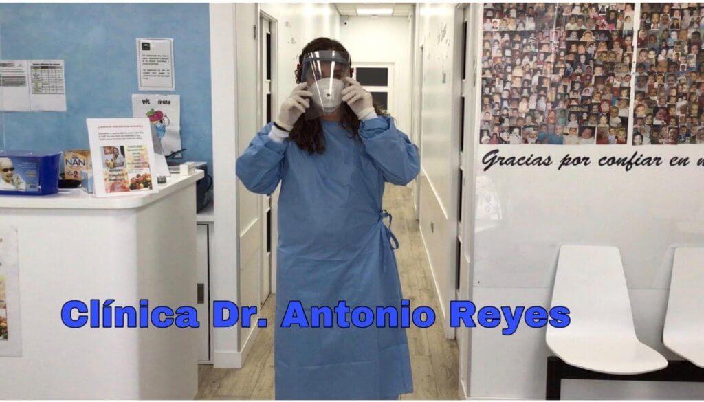 La clínica del Dr. Antonio Reyes agradece las máscaras 3D.