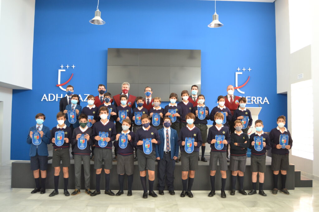 Foto de familia, alumnos 1º de ESO, Altasierra, Sevilla