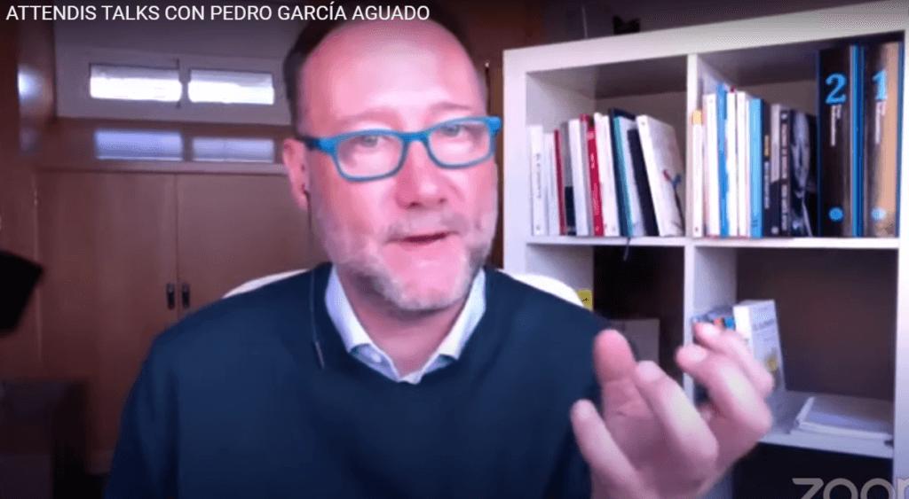 Pedro García Aguado en un momento de su intervención en el Attendis Talks