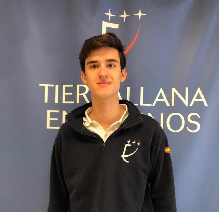 Becas Europa. Esteban, alumno de Tierrallana-Entrepinos.