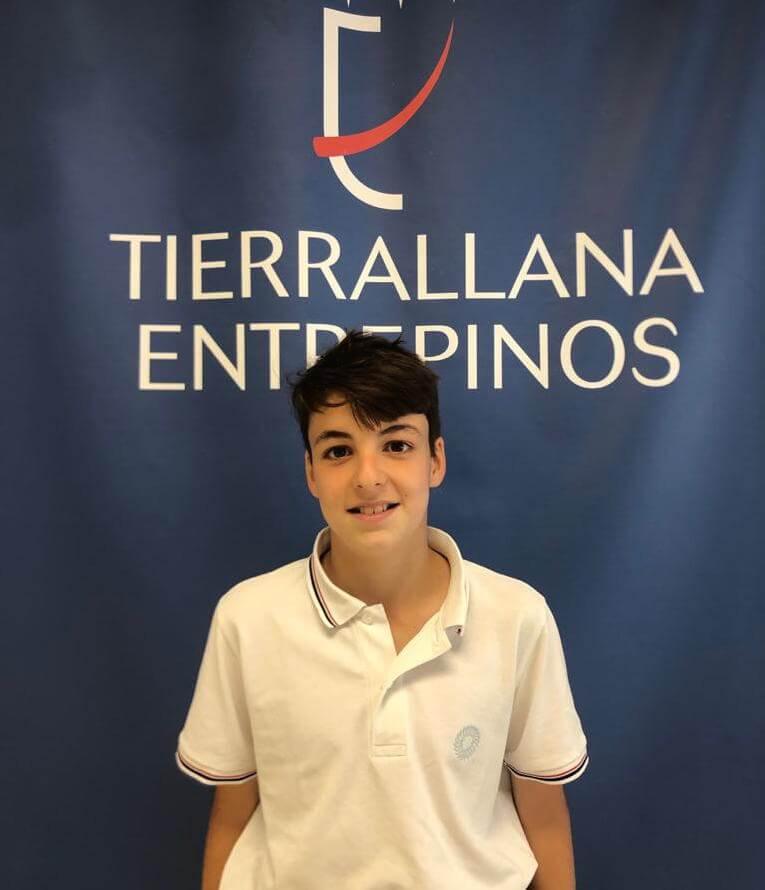 Carlos, alumno de Tierrallana-Entrepinos. Olimpiadas Thales