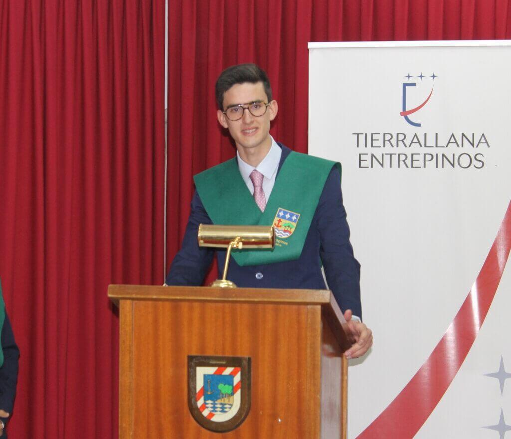 Esteban alumno de Tierrallana-Entrepinos. Selectividad 2021 PEvAU