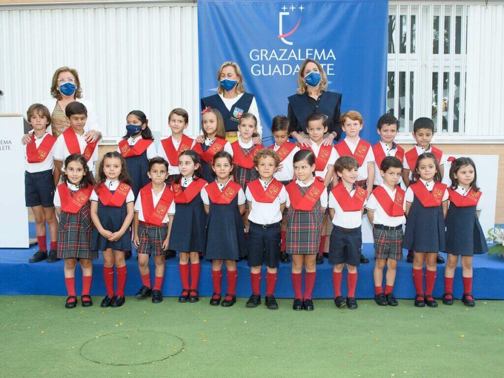 Alumnos de Grazalema-Guadalete durante el Solemne Acto Académico de Imposición de Becas de Educación Infantil