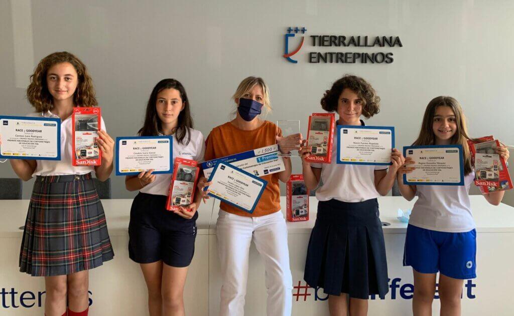 Alumnas Tierrallana-Entrepinos Concurso Nacional de Cortometrajes de Educación Vial