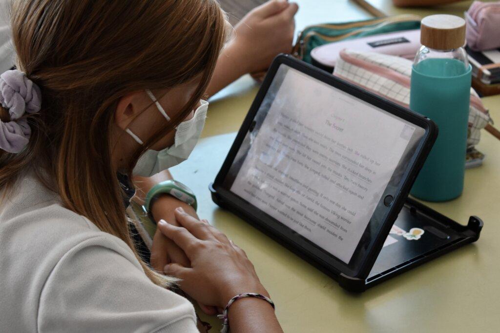 Alumna en la plataforma Fiction Express